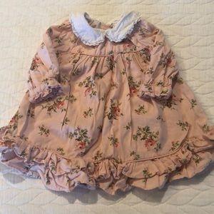 Ralph Lauren Floral Peach Baby Dress